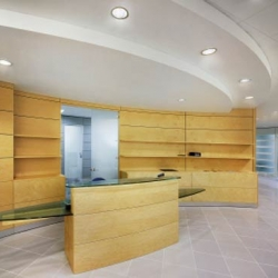 Light ash veneered bespoke reception desk with glass desk top|We can suggest designs or work to a specific plan to give a good first impression.|Reception Desk with a sprayed finish||Reception Desk with laminate finish|